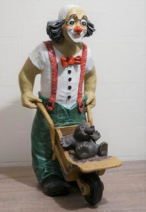 35509-1   Mauli, Clown mit Schubkarre und Maulwurf   1995