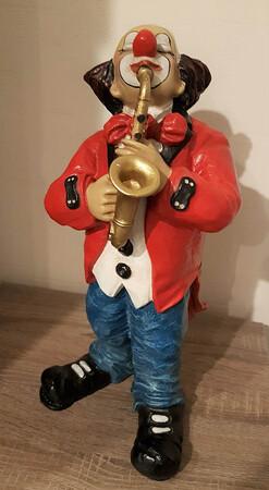 35115-1.A   Clown mit Saxophon   1986