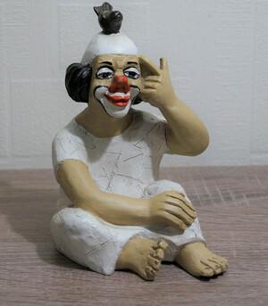 14119   Clown mit Vogel auf dem Kopf   1987