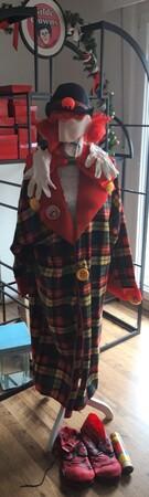 90091   Clown Kostüm, Gr. 54   1999