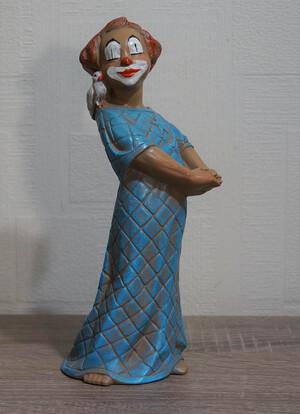 35331-1   Clown mit Taube, blau   1992