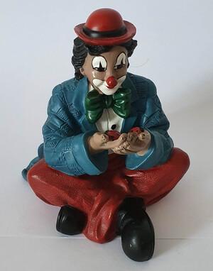 35701   Clown mit Marienkäfer, blau   1997