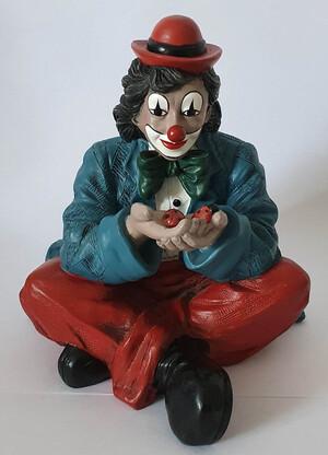 35515  Clown mit Marienkäfer, blau    1995