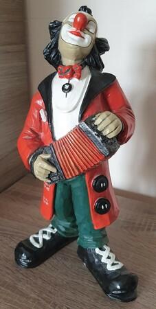 35136-1.B   Clown, Akkordeon, zwei cm kleiner   1987