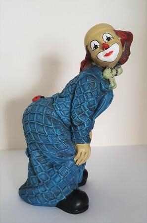 35223-1.A   Clown, Käfer auf Po, blau, Variante 1   1989
