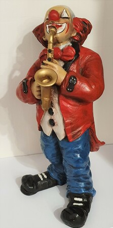 35115-1.B   Clown mit Saxophon   1986