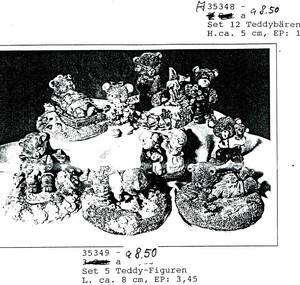 35349   Set fünf Teddyfiguren   1992