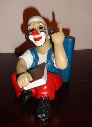 14113   Buchstütze   Clown   Denker   1988