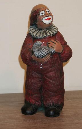 35336-1   Clown mit Taube, rot   1989