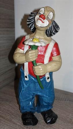 35227-1   Clown mit Gänseblümchen   1989