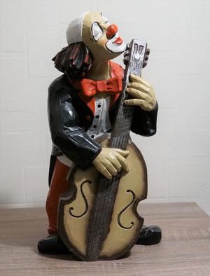 35230-1   Clown mit Bass bzw. Cello   1989