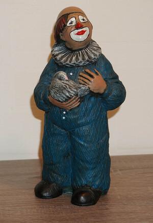 35337-1   Clown mit Taube, blau   1989