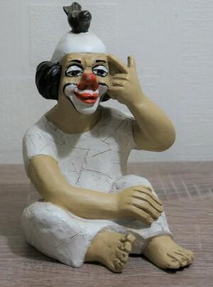 35148-1   Clown mit Vogel   1987