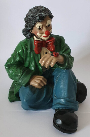 35514   Clown mit Marienkäfer, grün   1995